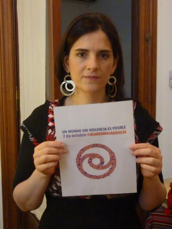 Georgina Hassan adhiere al #Diadelanoviolencia #nonviolenceday