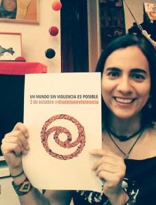 Marta Gómez beteiligt sich an der Kampagne #nonviolenceday #diadelanoviolencia