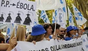 La Marea Blanca celebra en Madrid la recuperación de Teresa Romero y pide la dimisión de Mato
