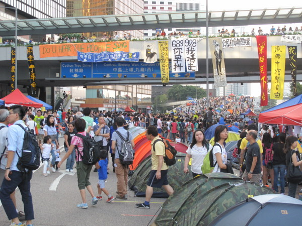 Hong Kong protests Sunday 12 October Admiralty-Queensway