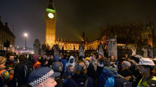 Occupy Democracy back in Parliament Square, London