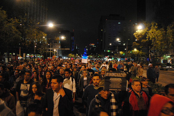Movilizaciones en todo el mundo por los desaparecidos en Ayotzinapa