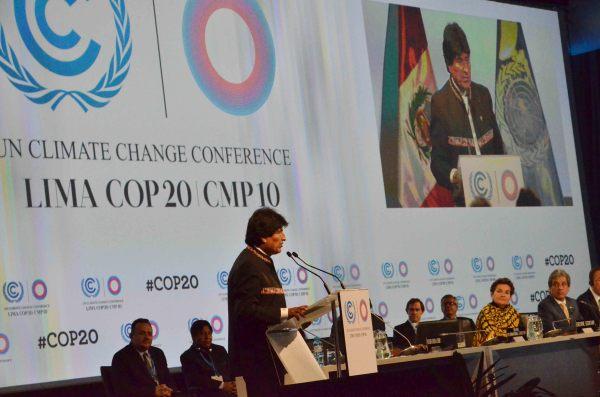 COP20: Bolivia pide no robar atmósfera, no mentir con compromisos y no ser flojos al hacer acuerdos