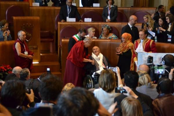 Bernardo Bertolucci Peace Summit Award 2014 Roma Summit Nobel Pace