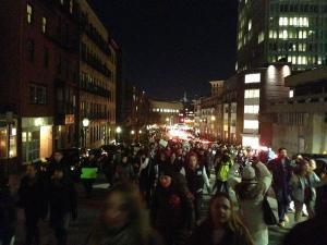 USA, i manifestanti di Boston che chiedono giustizia
