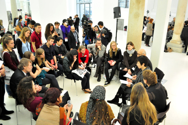images from the ICAN civil society forum in Vienna