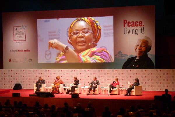 Leymah Gbowee Summit Nobel Peace Laureates Rome