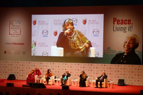 Mut, Leidenschaft und Humor beim Gipfel der Friedensnobelpreisträger