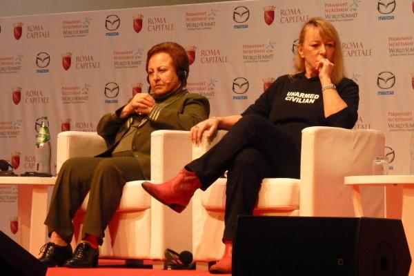 Shirin Ebadi e Jody Williams Summit dei Nobel per la Pace Roma