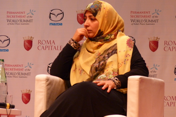 Tawakkol Karman: forza e speranza al Summit dei Nobel