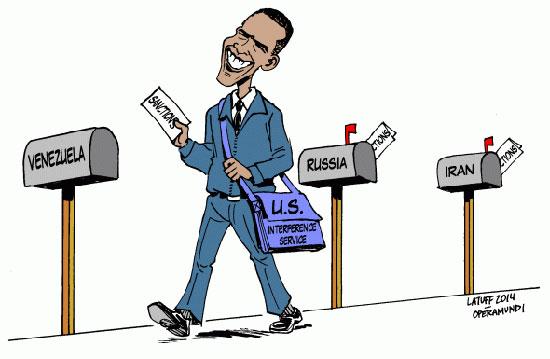 Pour faire avaler la couleuvre cubaine par les Républicains, Obama sanctionne le Venezuela