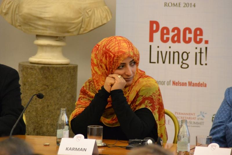 intervista a tawakkol karman summit nobel per la pace roma