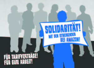 Solidaritätsaktion mit den Streikenden bei Amazon