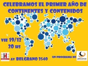 Paz en Colombia, Abolición de armas nucleares, elefantes y DDHH en Continentes y contenidos