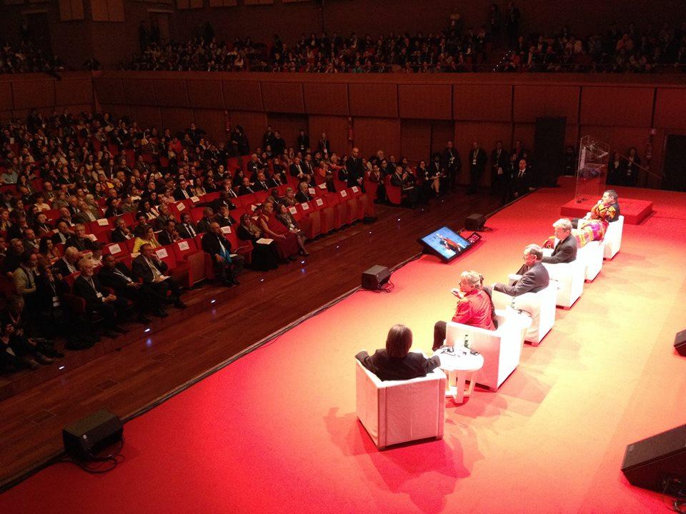 Il primo giorno del XIV Vertice dei Premi Nobel per la Pace a Roma