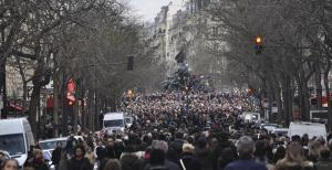 Paris – Marche du 11 janvier 2015 : 1,5 million de personnes se mobilisent pour affirmer la liberté d'expression