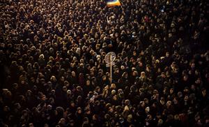 Marcha multitudinaria de franceses por ataque en París
