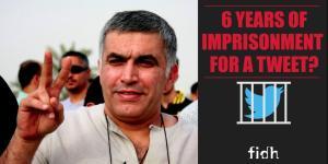Bahrain-Aktivist Nabeel Rajab wurde für einen Tweet zu 6 Monaten Gefängnis verurteilt