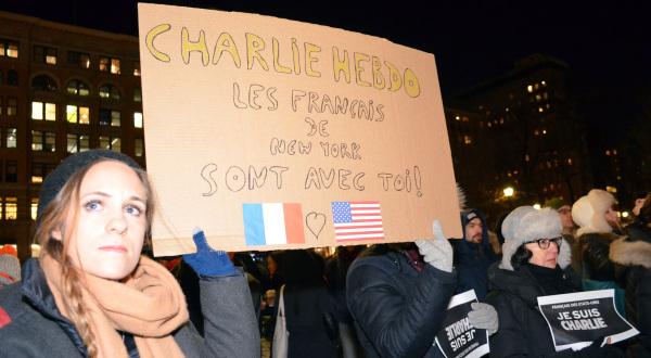 #JeSuisCharlie a New York