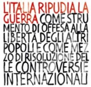 Italia ripudia la guerra: non rendiamo più facile dichiararla