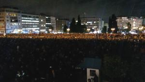 Manifestazioni anti BCE ad Atene e Salonicco