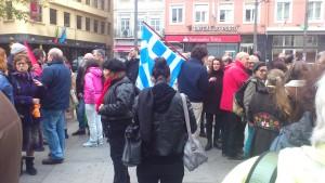 Portugueses manifestam-se em solidariedade com a Grécia