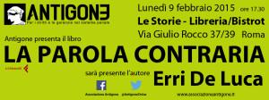 Antigone dà la parola a Erri De Luca. Il 9 febbraio a Roma
