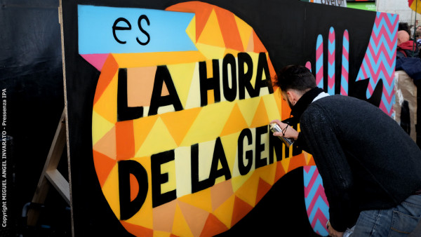 I volti della marcia del cambiamento a Madrid