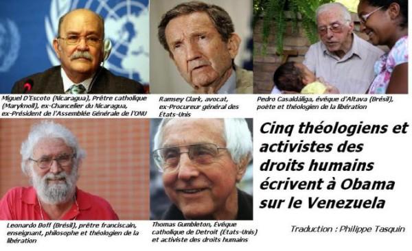Cinqthéologiens et activistes des droits humains écrivent à Obama sur le Venezuela