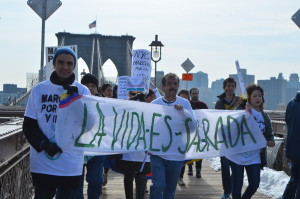 March for Human Dignity from the Brooklyn Bridge, NYC
