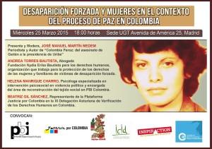 Desaparición forzosa y mujeres en el proceso de paz en Colombia