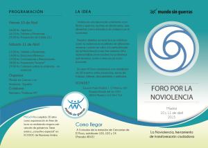 VII Foro por la No Violencia en Madrid