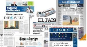 """Allianz von sieben europäischen Zeitungen für den """"Qualitätsjournalismus"""""""
