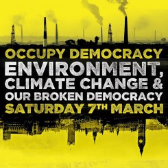 UK: Occupy Democracy returns to Parliament Sq. March 7, Climate theme
