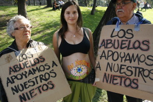 Santiago de Chile: Masiva marcha de estudiantes