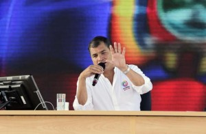 President Correa criticizes Chevron for hiding evidence of contamination, shown in videos released by Amazon Watch