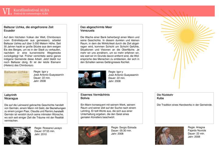 VI. Kurzfilmfestival der Länder der Bolivarischen Allianz (ALBA)