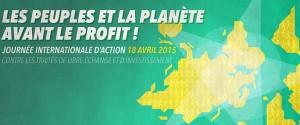 Stop TAFTA : journée mondiale de mobilisation du 18 Avril 2015 – Paris