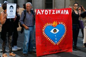 Eurocaravana de Ayotzinapa pasa por Madrid