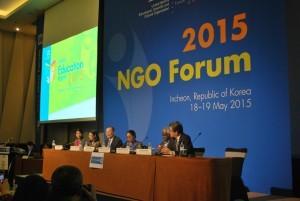 Se inaugura el Foro de ONGs rumbo al Foro Mundial sobre la Educación en Incheon