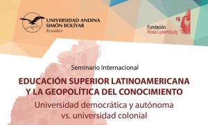 Educación Superior y geopolítica del conocimiento