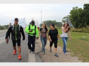 South Africa: the man who walked 321km for harmony