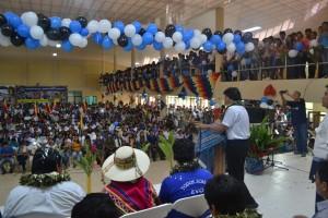 Morales pide que universidad indígena forme profesionales con compromiso nacional
