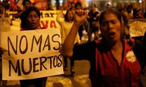 Solidaridad internacional con Valle del Tambo en Perú