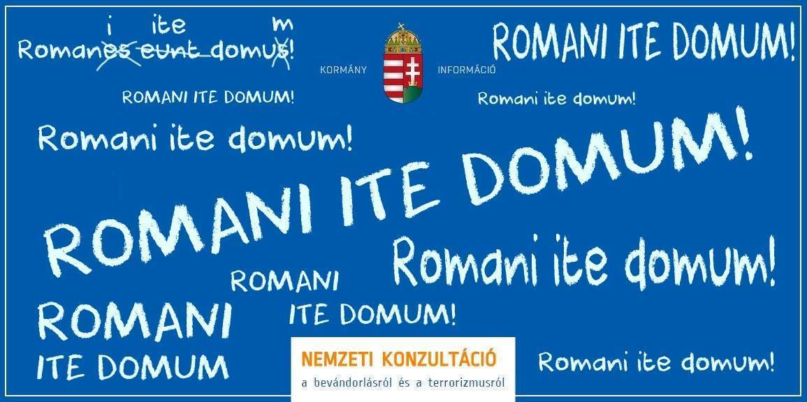 "Romans Go Home: ""write it out a hundred times"""