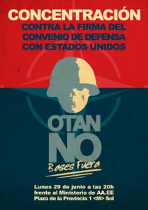Plataforma contra las guerras convoca manifestación contra ampliación de la base estadounidense de Morón en Madrid