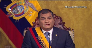 "President Correa announces ""temporary"" suspension of laws and calls for a ""national debate"""