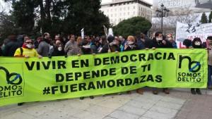 Ley Mordaza:  Represión de masas