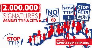 2,000,000 Europe-wide signatures against TTIP
