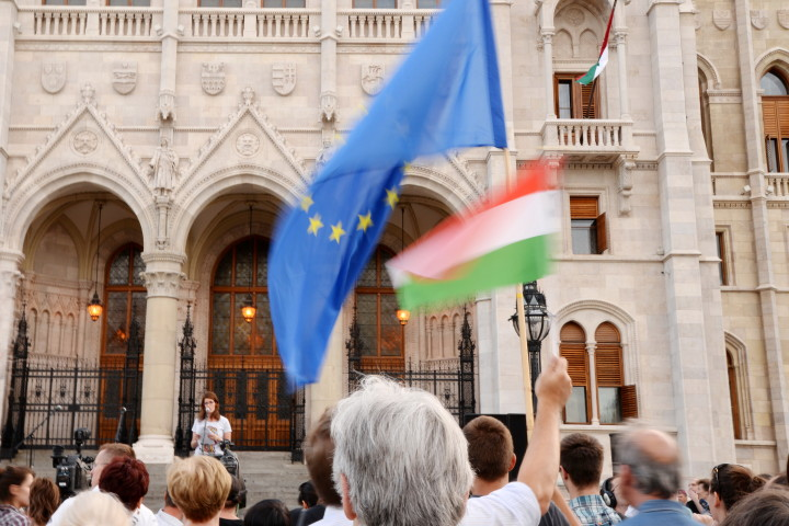 Hungary – Serbia wall protest 05